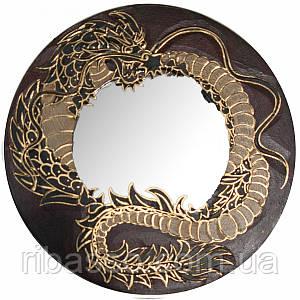 """Зеркало мозаичное """"Дракон"""" красный d-30 cм 30260"""