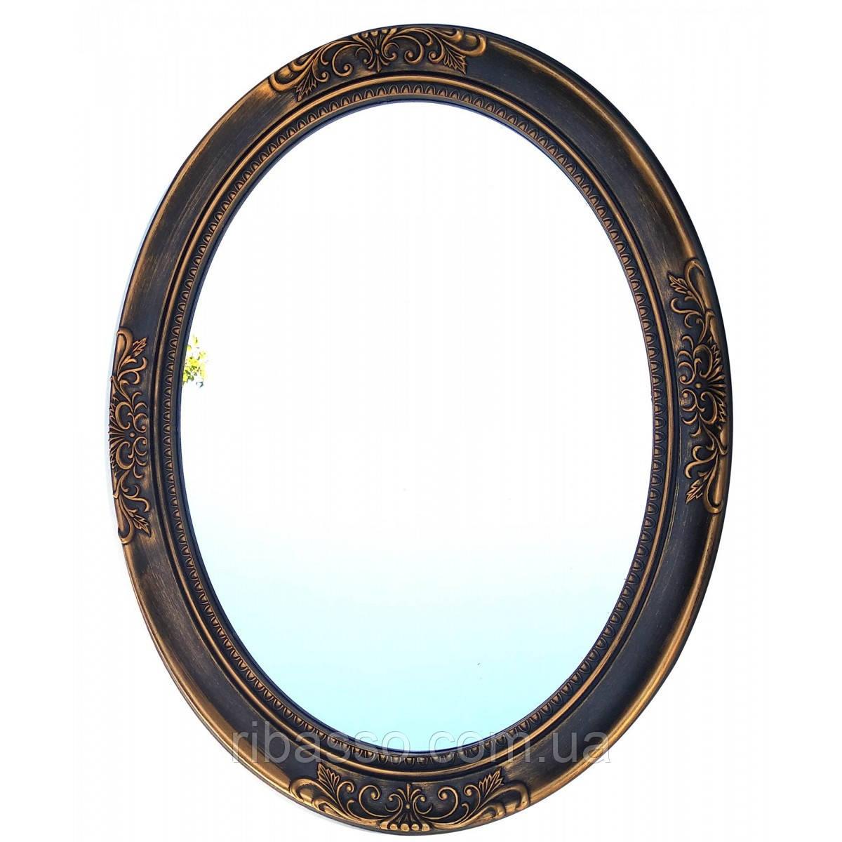 Зеркало настенное овальное 69х54х3,5 см 32066