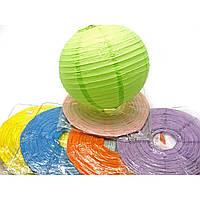 Фонарь цветной бумажный d-30 см 28803