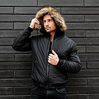 Мужская куртка зимняя пуховик зимний бомбер
