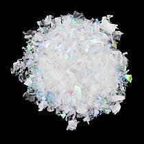 Снег искусственный белый с блеском 80 грамм