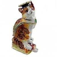 Металлическая шкатулка в подарок Кот ученый