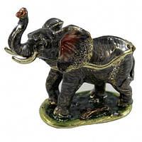 Шкатулка металлическая Слон для женских украшений