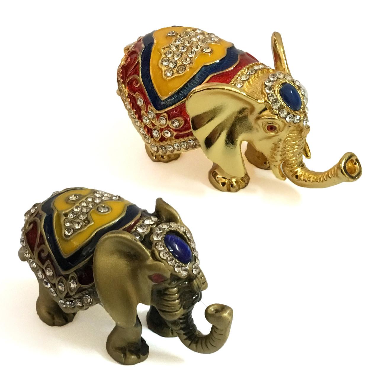 Шкатулка для ювелирных украшений Слон из металла