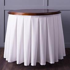 Фуршетна Спідниця з Липучкою для столу Бантовими складка Висота 72..75см, фото 3