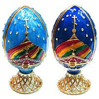 Декоративная шкатулка яйцо для украшений, фото 1