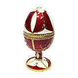 Шкатулка яйцо со стразами для украшений, фото 3