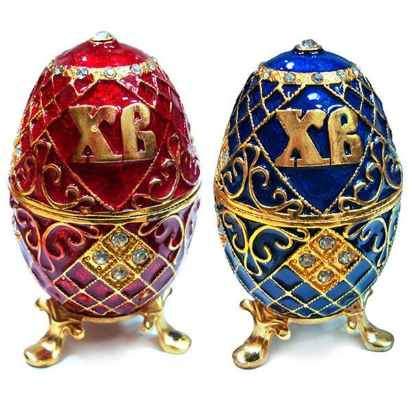 Шкатулка яйцо из металла для бижутерии