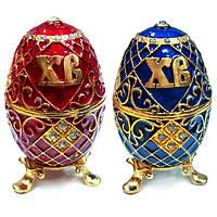 Шкатулка яйцо из металла для бижутерии, фото 1