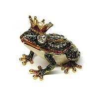 Шкатулка подарочная со стразами Царевна лягушка