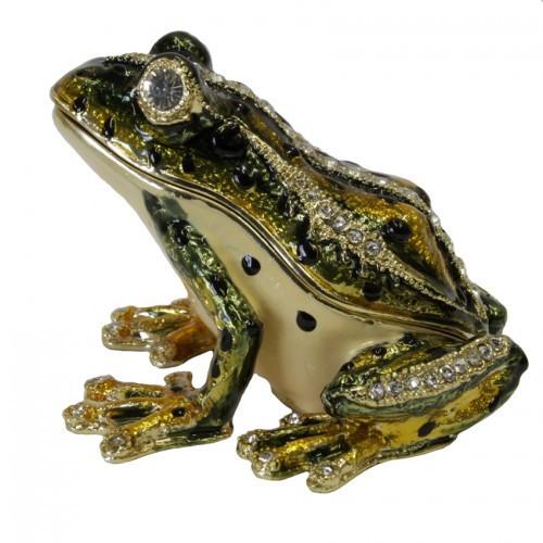 Шкатулка металлическая Лягушка под Фаберже