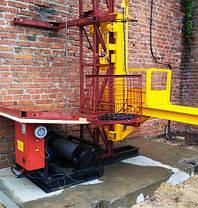 Строительный подъемник мачтовый секционный с выкатной платформой ПМГ г/п 500 кг . Мачтовые подъёмники H- 75  м, фото 2