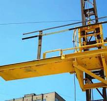 Строительный подъемник мачтовый секционный с выкатной платформой ПМГ г/п 500 кг . Мачтовые подъёмники H- 75  м, фото 3