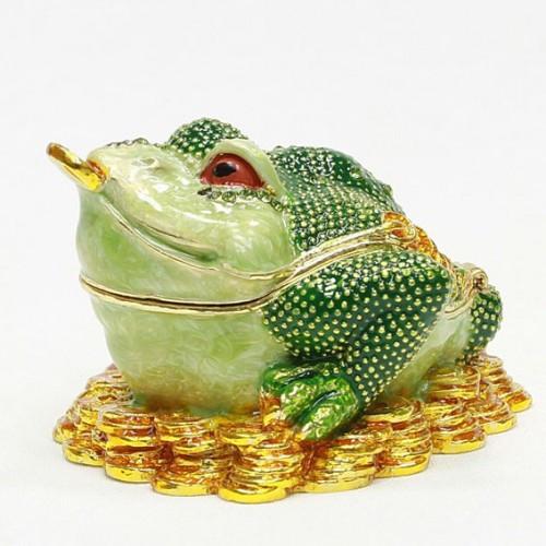 Маленькая шкатулка для украшений Лягушка