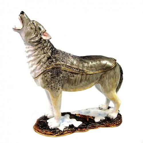 Шкатулка в подарок под Фаберже Волк