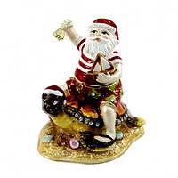 Шкатулка для подарка Санта-Клаус на черепахе