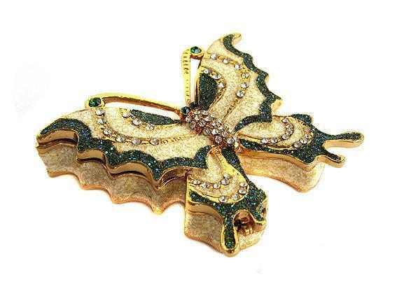Скринька Метелик зі стразами для прикрас