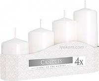 Свечи белые для свадьбы (4шт)