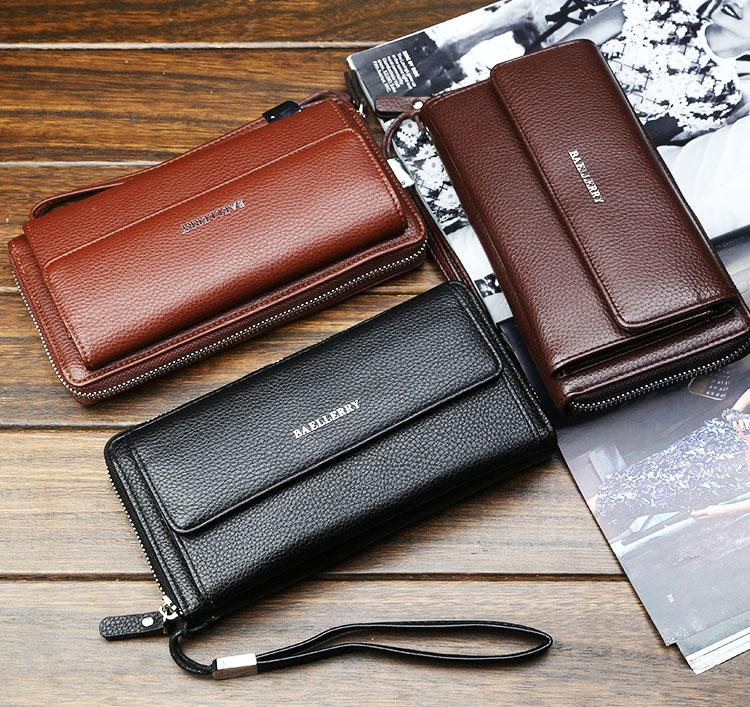 Мужской клатч, кошелек, портмоне Baellerry Favorit. Три цвета.