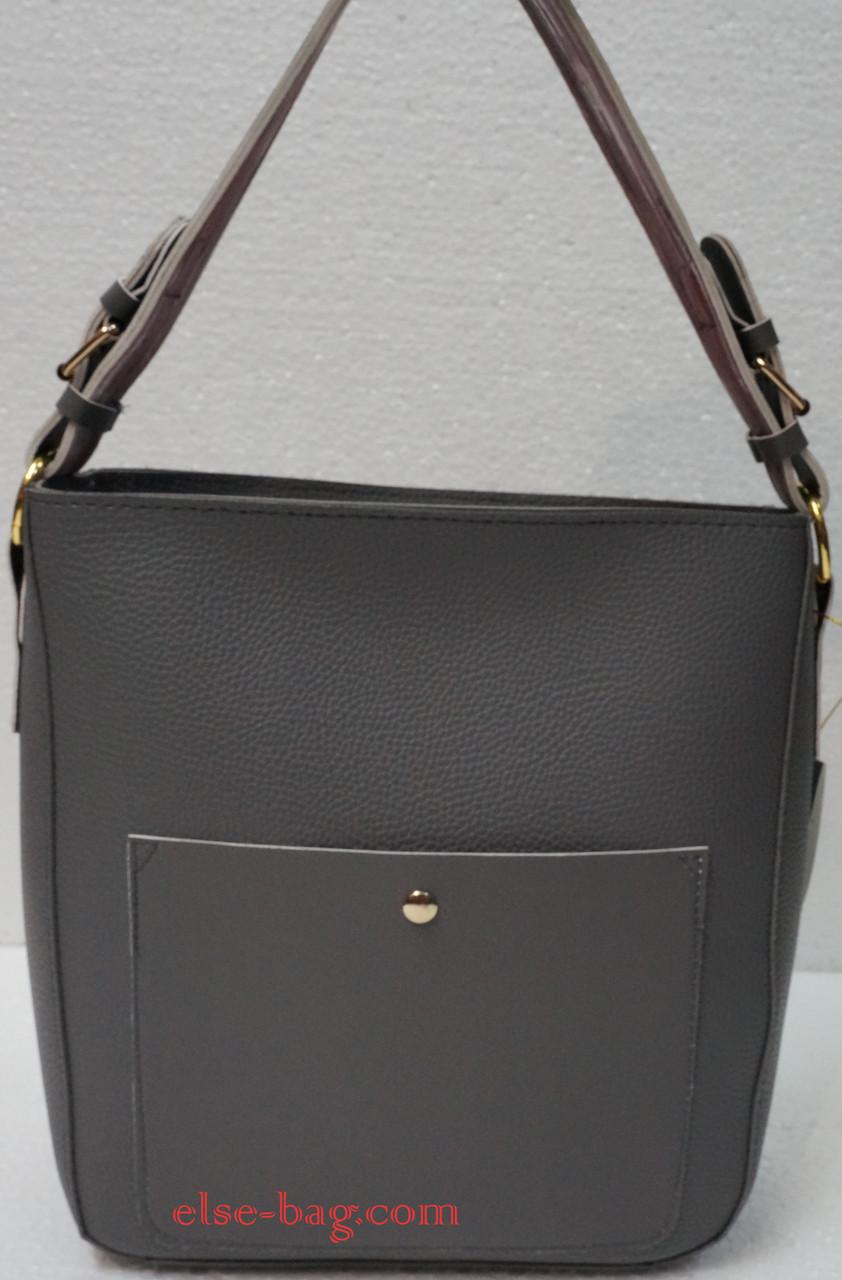 9b86d83275d1 Женская сумка из эко кожи с карманом на кнопке -