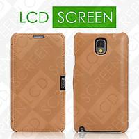 Чехол iCarer для Samsung Galaxy Note 3 Luxury Brown (side-open) (RS900001)