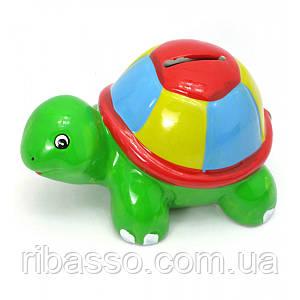 "Копилка ""Черепаха"" керамика зеленая 14,5х8,5х9 см 29695"