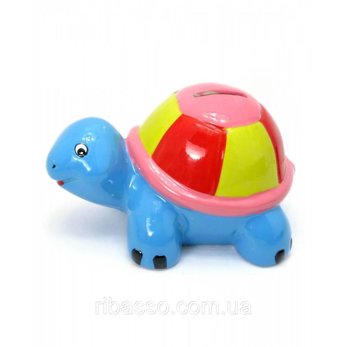 """Копилка """"Черепаха"""" керамика синяя 14,5х8,5х9 см 29695B"""