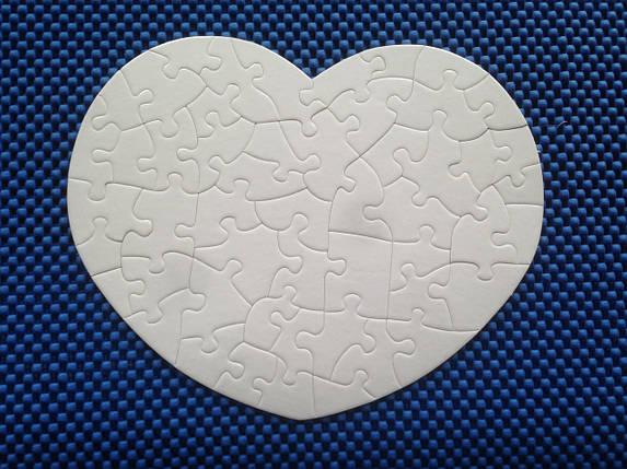 Пазлы для сублимации сердце для планшетного термопресса , фото 2
