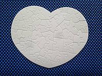 Пазлы для сублимации сердце для планшетного термопресса