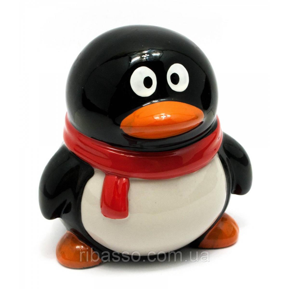 """Копилка керамическая """"Пингвин"""" 10х8,5х8,5 см 29475"""