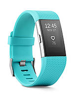 Fitbit Charge 2 HR + Fitness Wristband Teal/Silver (Размер L/G) (FB407STEL-EU)