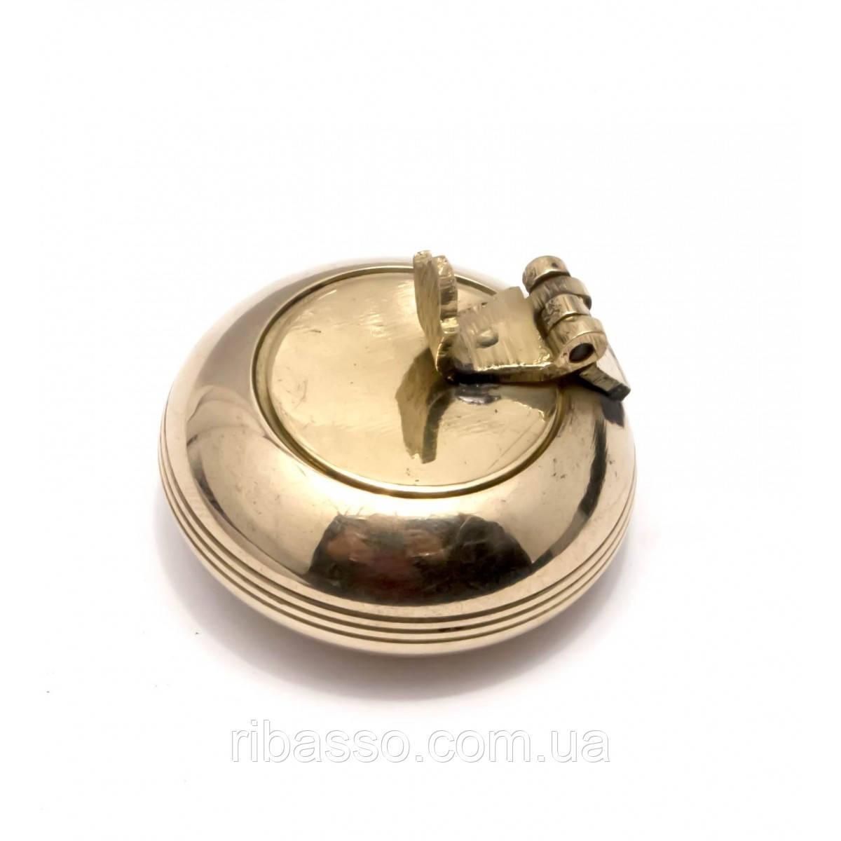 Пепельница карманная бронзовая d-4,h-2,5 см 29336