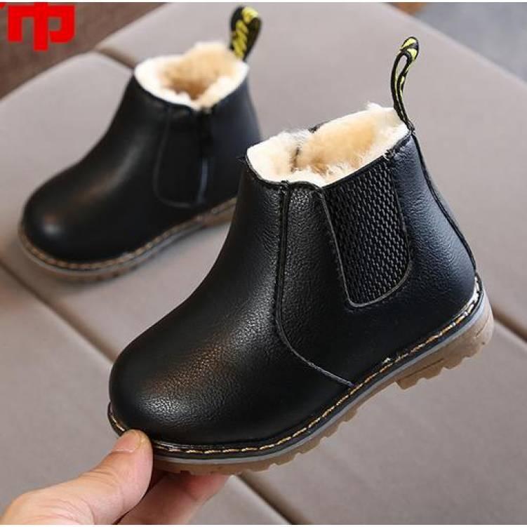 Ботинки  детские зимние с мехом из PU кожи  на мальчика