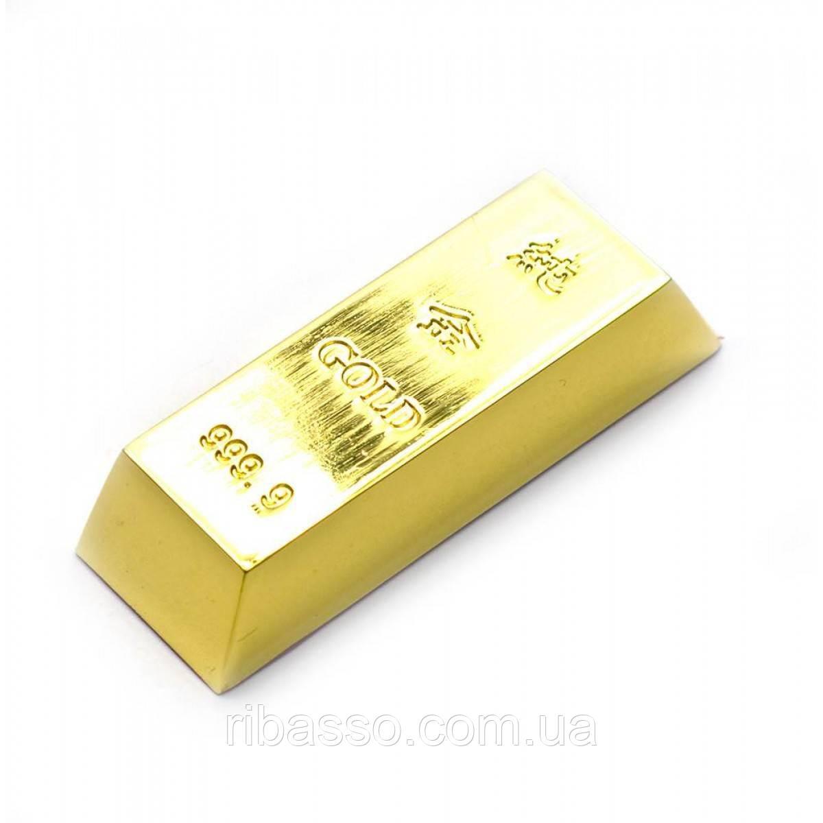 Золотой слиток 7,5х2,5х1,5 см 26401