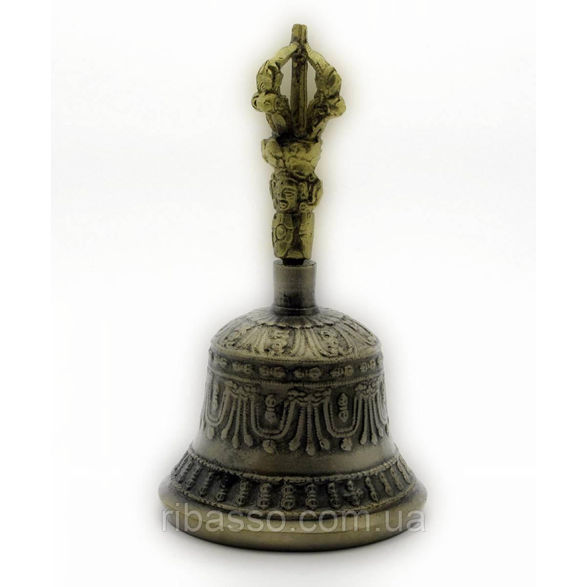 Колокол чакровый бронзовый №2 d-8,h-14.5 см Непал Bell Embose No.2 3210