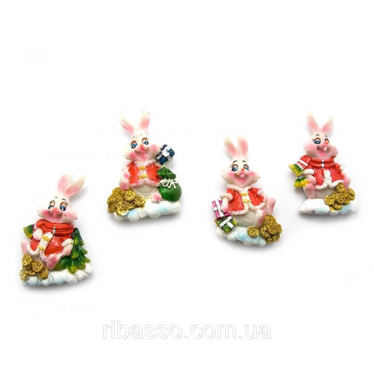 """Магнит """"Кролик"""" 16 шт/уп 7х4х1,5 см 23830"""