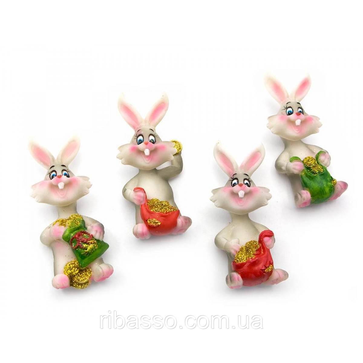 """Магнит """"Кролик"""" 20 шт/уп 8х4х2,5 см 23786"""