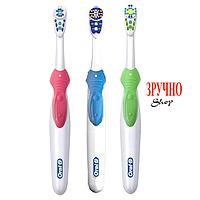 Зубная щетка Oral-B Cross Action 3D White на батарейке, B1010F