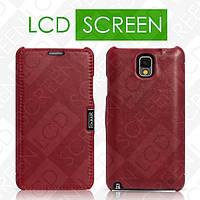 Чехол iCarer для Samsung Galaxy Note 3 Luxury Red (side-open) (RS900001)