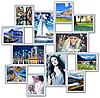 Рамка для фотографий на стену на 12 фото. белая.