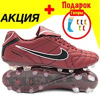 Футбольные бутсы Nike TIEMPO (р.40-44) NEW U-007T-6, фото 1