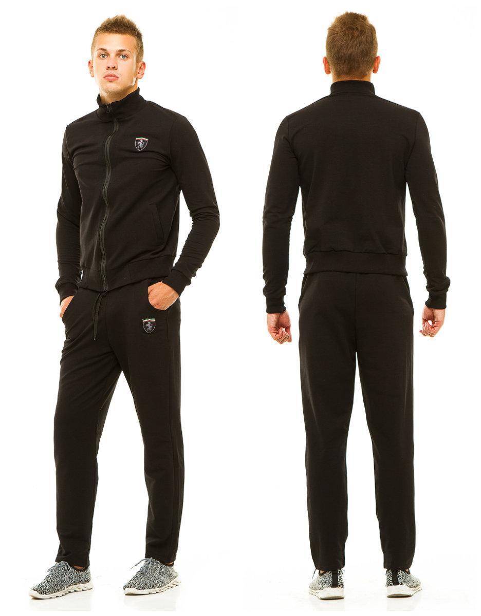 55985b19e6ab Мужской спортивный костюм: штаны и кофта на змейке с воротом стойкой