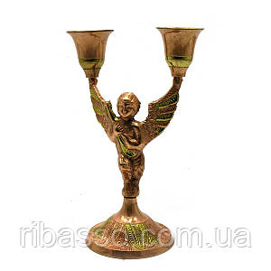 "Подсвечник ""Ангел"" бронзовый 16х10,5х7 см 28254"
