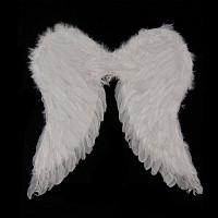 Крылья Ангела перьевые белые большие 52см.