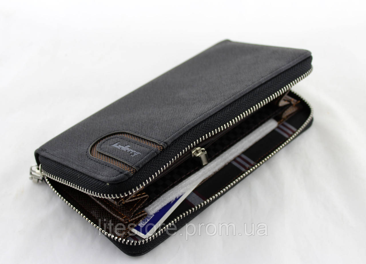 cdb13871cf57 Кошелек Baellerry S1514 black, Мужской прямоугольный клатч, Мужское  портмоне, Вместительный мужской кошелек -