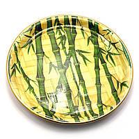Тарелка бамбуковая круглая d-26 см 27989