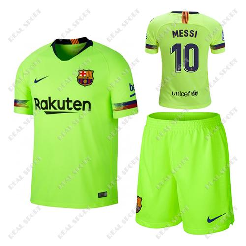bd526618be4c Детская футбольная форма ФК Барселона 2018-2019, Месси №10. Гостевая форма