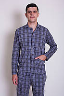 Пижама мужская в клетку со штанами