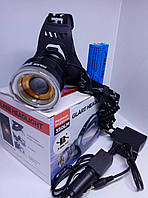 Налобный фонарь Bailong BL-T619-2 на двух аккумуляторах типа 18650