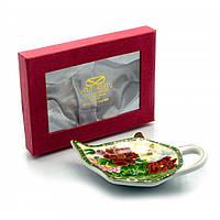 """Подставка под чайные пакетики 11,5см. TBP1070 """"Пионы с бабочкой"""" 23145"""